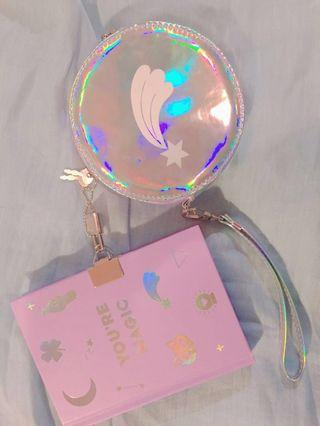 ♡ Kikki K Holographic journal & pouch set