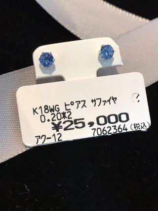 40份藍寶石💎耳環