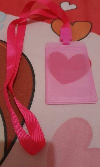 New id card case pink