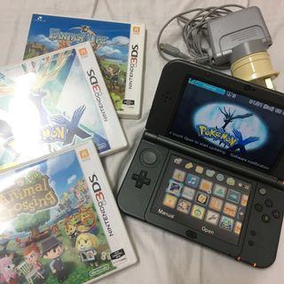 Nintendo 3DS XL + 3 Games (Animal Crossing + Pokemon X + Fantasy Life)