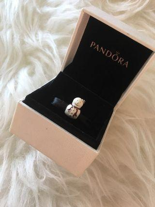 PANDORA CHARM - Snowman with Red Scarf ⛄️