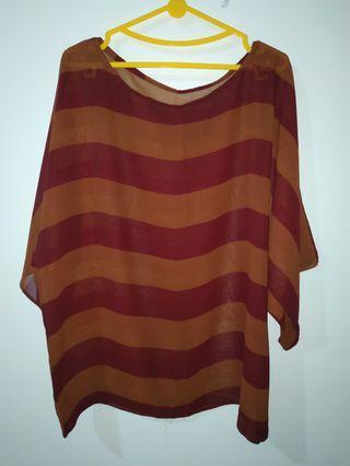 #BAPAU Brown striped blouse