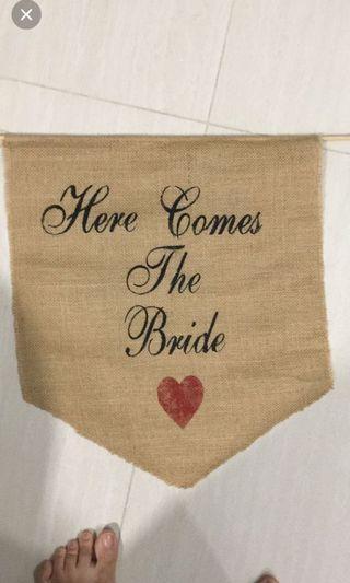 Wedding Burlap Flower Girl Signage