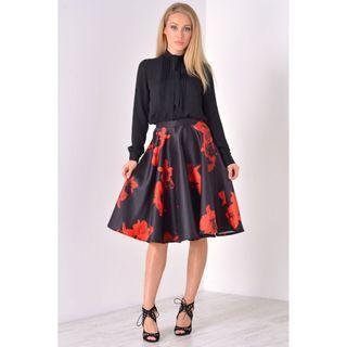 BN abstract midi skirt