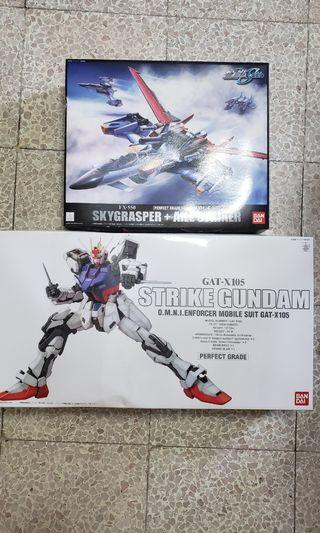 模型 PG Strike Gundam + skygrasper with Aile Striker