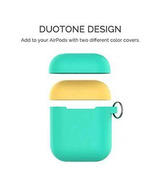 AhaStyle Duotone Silicone Case Ultra Thin Protective Cover Skin with Keychain