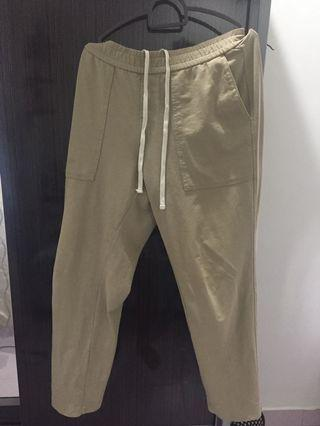 uniqlo men washed jersey ankle length pants