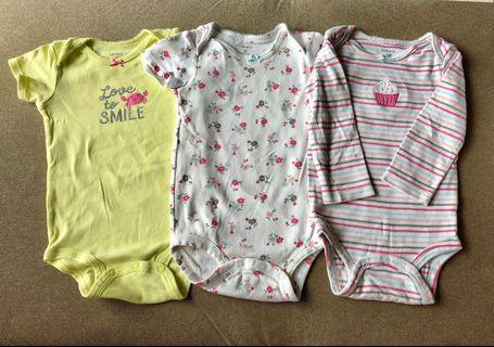 Carter's Baby Girl Rompers - bundles 3pcs