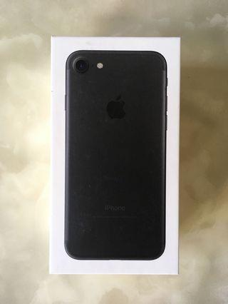 Iphone 7 black (box only)