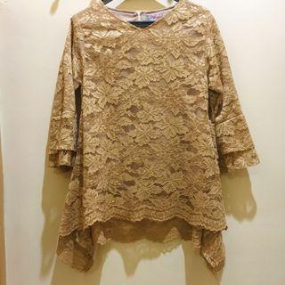 Blouse/Brokat/Tops Light Brown
