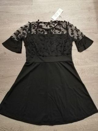 Ready stock _Black Lace Dress