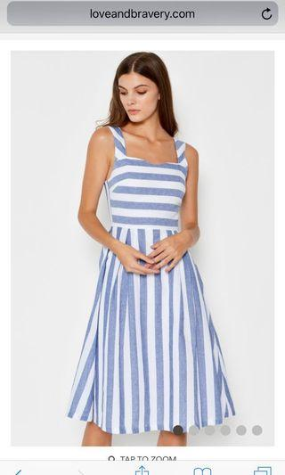 Summer striped midi dress