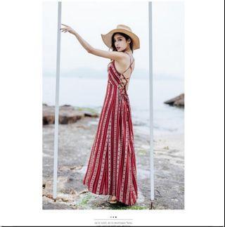 Ready stock _Beach Dress Summer Bohemian Style