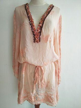 Bohemia dress kerah batu