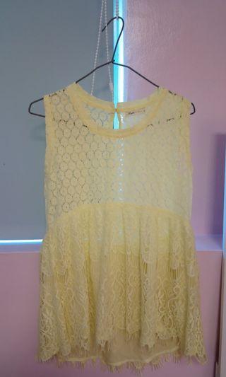 🚚 螢光黃罩衫