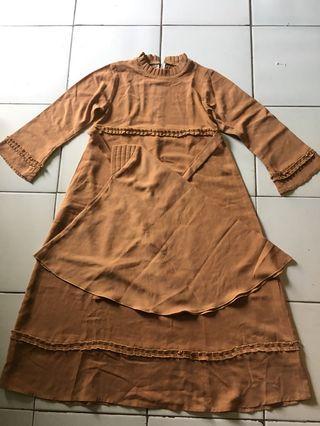 Dress gamis set kerudung