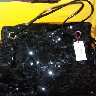 BNWT ALANNAH HILL BLACK SEQUIN LARGE BAG