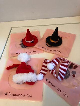 寵物龍貓天竺鼠拍攝用帽子及頸巾