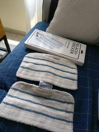 Steam mop microfibre pads
