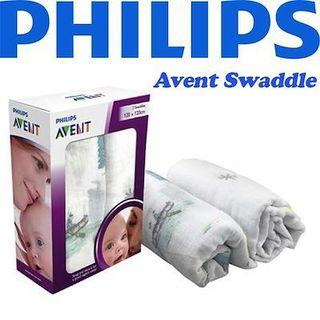 🚚 Philips Avent Phillip Avent Swaddle Wrap (Muslin Cotton Quality)