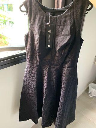 SA black embossed dress