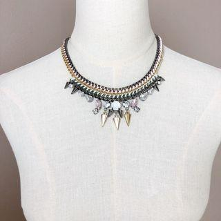 Topshop Sweet n Spikes Statement Necklace