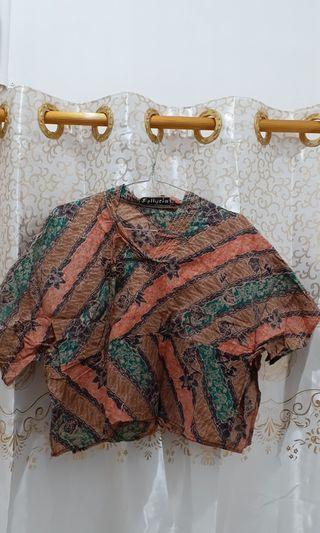 Blouse Batik Crop Top