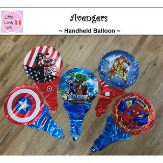 Avengers Handheld Balloon Buy 10 @ $10 and get 1 balloon pump free