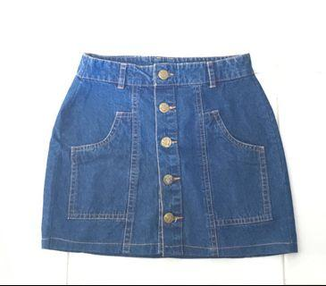 #BAPAU mini-skirt mid buttoned