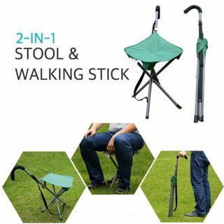 [Mix&Match : 2 for $68] Teagan Portable Stool Cum Walking Stick seat/Walking Chair/ Light-Weight/Compact/ Foldable/ Folding/ Outdoor/ Camping/ Fishing/ Beach/ Picnic/ Travel/ Mecca/ Pilgrimage/ Backpack/  [N2850SC2490Y3780R3090]