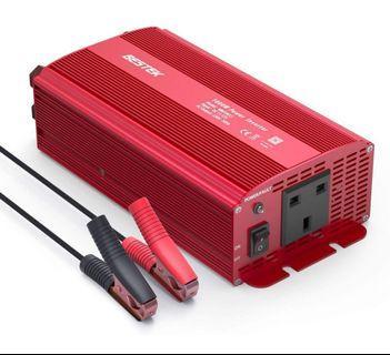 🛏️BESTEK 1000W Power Inverter DC 12V to AC Outlet 230V 240V Voltage Converter with Cigarette Lighter Adapter in Car and Crocodile Clip for Battery