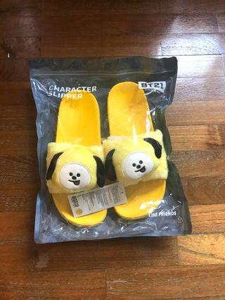 <INSTOCK> BT21 Chimmy Plush Head Slippers
