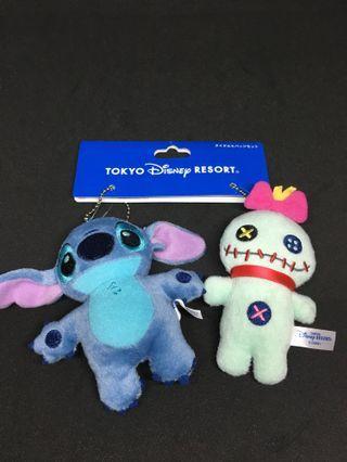 迪士尼 史迪仔與阿甘 扣針 吊飾 Stitch & Friend