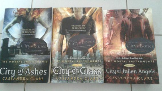 3 For $50 : THE MORTAL INSTRUMENTS FICTON BOOKS