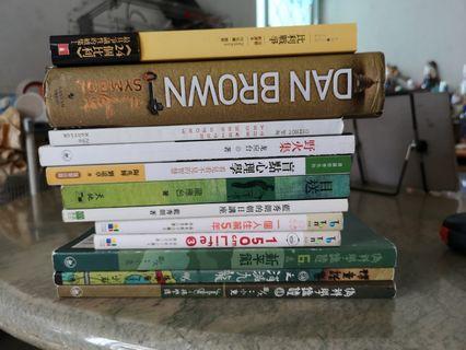 漫畫,中文散文,英文小說