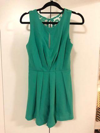 Small green playsuit