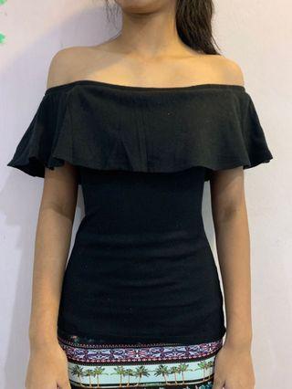 Black off shoulder top
