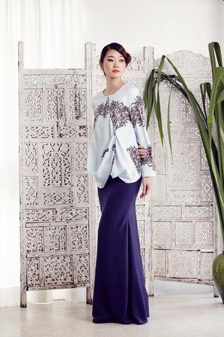 Fern Bias Top in Blue (Eid 2016 collection by MimpiKita) #GayaRaya