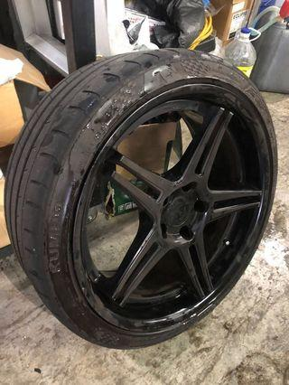 "19"" 5 x 114.3 rims + tyre. No Swap needed."