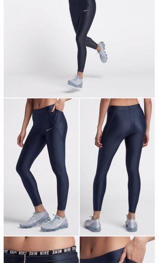 🚚 Nike 運動褲 壓縮褲 彈力褲 女款 女生 XL號 藍色 全新 未拆