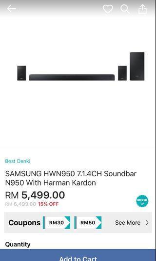 Samsung HW-N950 7.1.4 soundbar