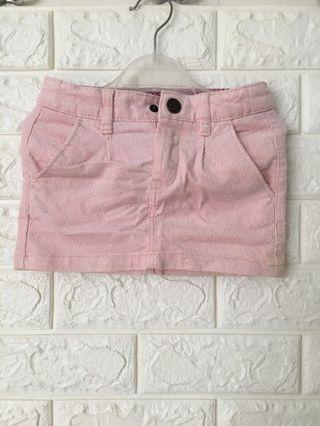 H&M glitter pink skirt