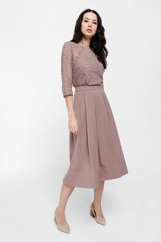 🚚 Love Bonito Pautryne Pleated Midi Skirt