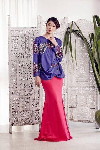Fern Bias Top in Purple (Eid 2016 collection by MimpiKita)#GayaRaya