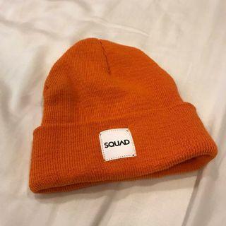 🚚 全新Squad土橘色毛帽