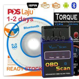 MINI ELM 327 Bluetooth Vgate Scan OBD2 / OBDII ELM327 V2.1 Code Scan