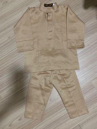 Baju Melayu upin ipin by jakel size 1-2y