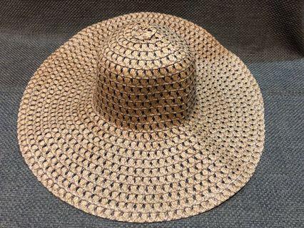 深棕色草帽
