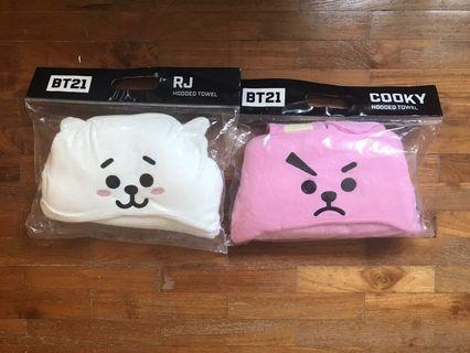 <INSTOCK> BT21 Olive Young Hooded Towel