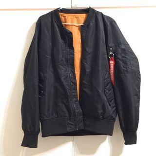 黑色 橘色 防風 風衣外套 男 運動外套 休閒  個性